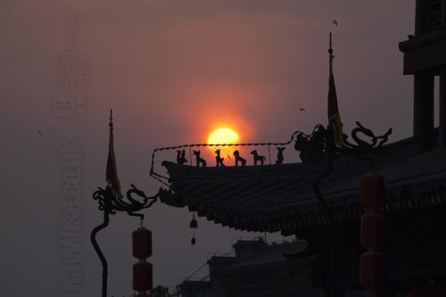 Xian wall sunset