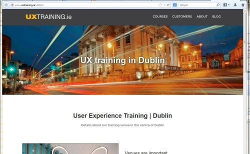 ux training ireland